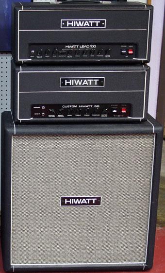 Hiwatt Lead 100 Guitar Amplifier Head Custom 50 Guitar