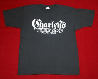t shirts charley 39 s guitar shop new used and vintage guitars and amplifiers buy sell. Black Bedroom Furniture Sets. Home Design Ideas